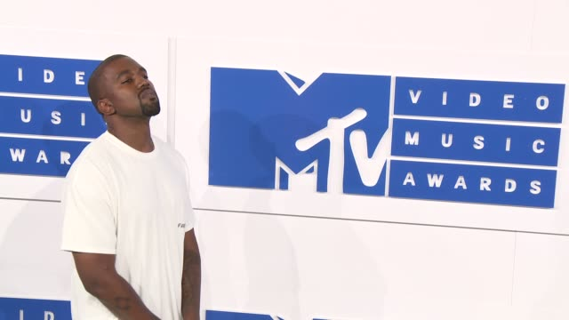 Kanye West at 2016 MTV Video Music Awards Arrivals at Madison Square Garden on August 28 2016 in New York City