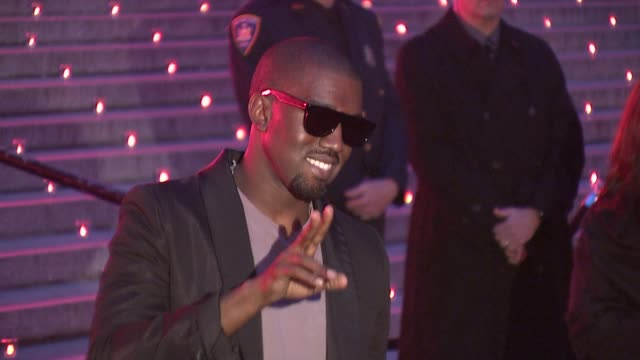 kanye west at the 8th annual tribeca film festival vanity fair party at new york ny - tribeca stock videos & royalty-free footage