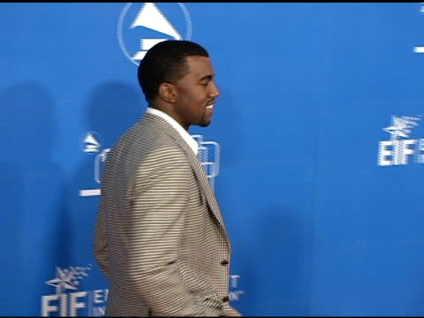 kanye west at the grammy jam celebrating the music of earth wind and fire at the wiltern theater in los angeles california on december 11 2004 - wiltern theater stock videos and b-roll footage