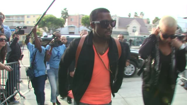 kanye west at the we are the world 25th anniversary recording for haitian earthquake relief at los angeles ca - 25th anniversary stock videos and b-roll footage