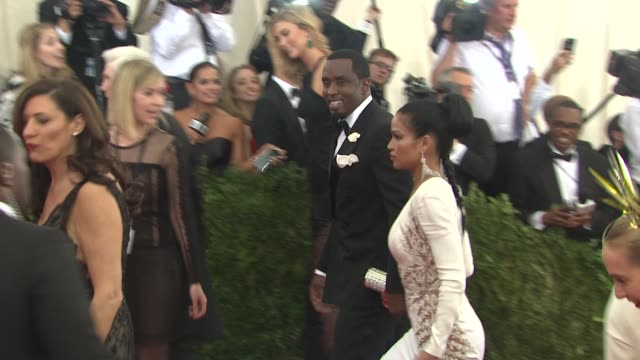 Kanye West Kim Kardashian at China Through The Looking Glass Costume Institute Benefit Gala Arrivals at Metropolitan Museum of Art on May 04 2015 in...