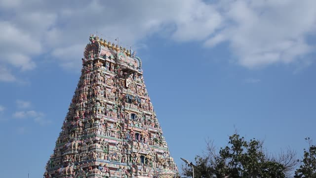 kapaleeshwarar temple, mylapore, chennai, tamil nadu, india - tempio video stock e b–roll