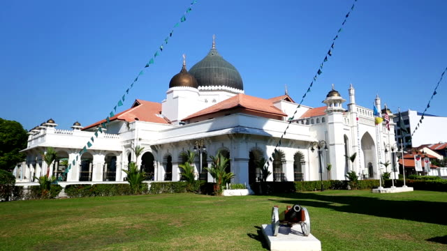 kapitan keling mosque penang - penang stock videos and b-roll footage