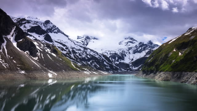 kaprun reservoir at hohe tauern in austria - hydroelectric power stock videos & royalty-free footage