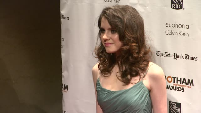 kara hayward at the 22nd annual gotham independent film awards at cipriani wall street on november 26 2012 in new york new york - independent feature project stock videos & royalty-free footage