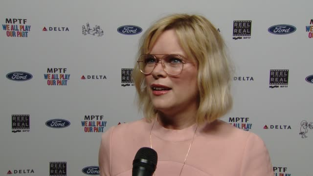 interview kara holden on the unpredictable nature of the business the mptf's role at the 7th annual reel stories real lives event benefiting mptf at... - director's guild of america stock videos & royalty-free footage