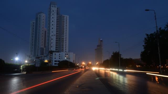 karachi city street view, time lapse - karachi stock videos & royalty-free footage