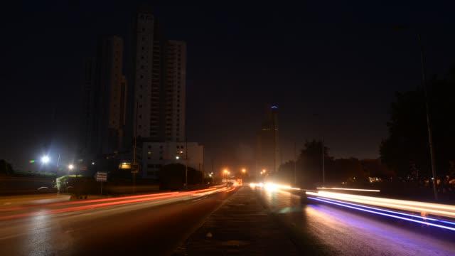 karachi city street view, time lapse - pakistan stock videos & royalty-free footage