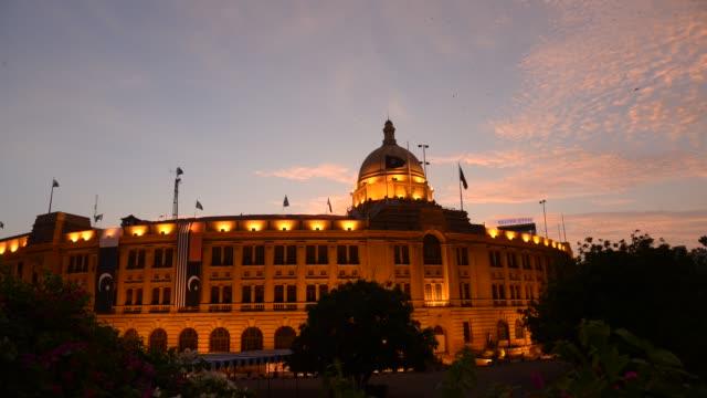 karachi port trust building, pakistan - karachi stock videos & royalty-free footage