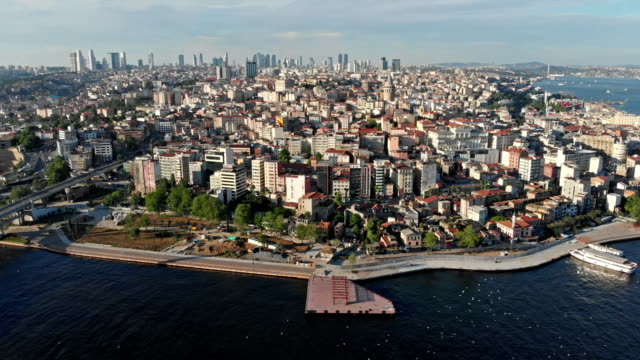 karakoy district in istanbul - golden horn istanbul stock videos and b-roll footage