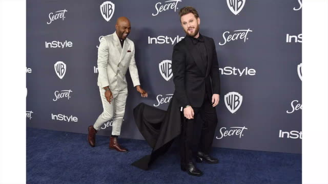 vídeos de stock, filmes e b-roll de karamo brown and bobby berk attend the 21st annual warner bros. and instyle golden globe after party at the beverly hilton hotel on january 05, 2020... - karamo brown