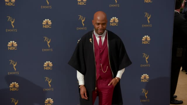 vídeos de stock, filmes e b-roll de karamo brown at the 70th emmy awards - arrivals at microsoft theater on september 17, 2018 in los angeles, california. - karamo brown
