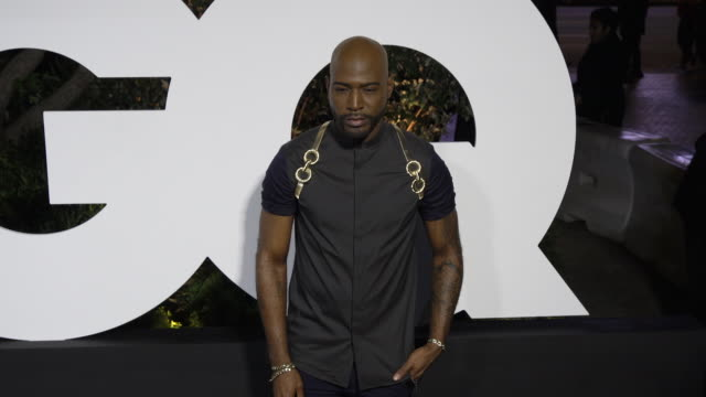vídeos de stock, filmes e b-roll de karamo brown at the gq men of the year 2019 celebration on december 05, 2019 in west hollywood, california. - karamo brown