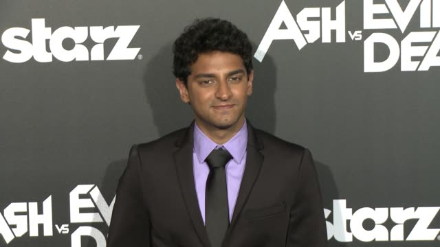 Karan Soni at the Ash Vs Evil Dead Los Angeles Premiere And Live Performance By Iggy Pop at TCL Chinese Theatre on October 28 2015 in Hollywood...