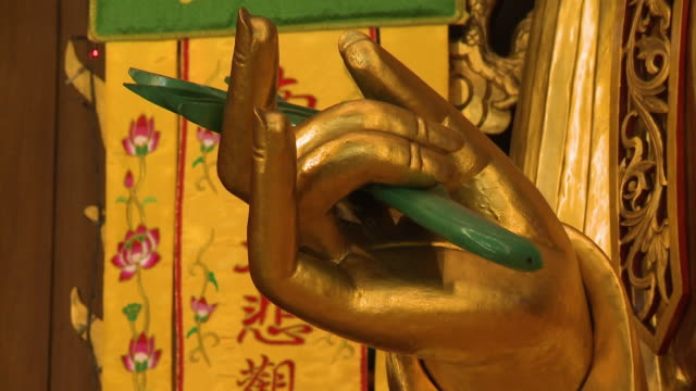 karana mudra gesture, kek lok si temple, penang - penang stock videos and b-roll footage
