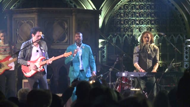 karaoke electro harp and even musical saw versions of david bowies greatest hits rang out in london as fans gather for a tribute concert a week on... - harp stock videos & royalty-free footage