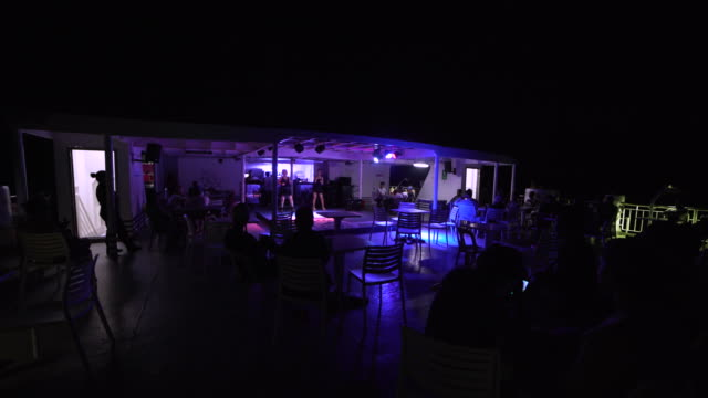 karaoke show at philippines boat at night - tradition stock videos & royalty-free footage