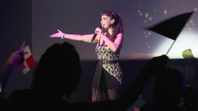 stockvideo's en b-roll-footage met karaoke world championships has kicked off in japan the birthplace of the sing along machine that offers fleeting moments of stardom to millions of... - geboren in