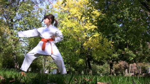 hd: karate girl - sporting term stock videos & royalty-free footage