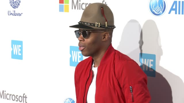 kardinal offishall at we day california at the forum on april 07 2016 in inglewood california - inglewood stock videos and b-roll footage