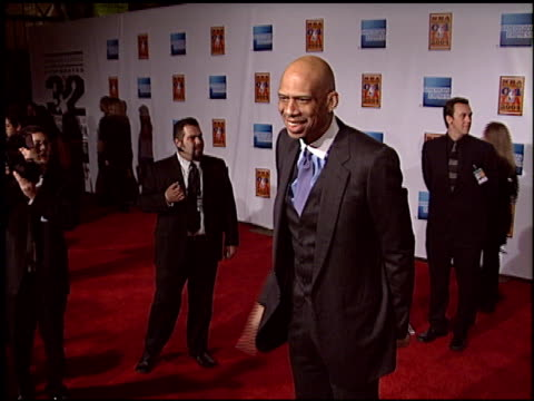 kareem abduljabbar at the magic johnson tribute at the shrine auditorium in los angeles california on february 12 2004 - magic johnson stock videos and b-roll footage