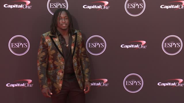 Kareem Hunt at The 2018 ESPYS at Microsoft Theater on July 18 2018 in Los Angeles California