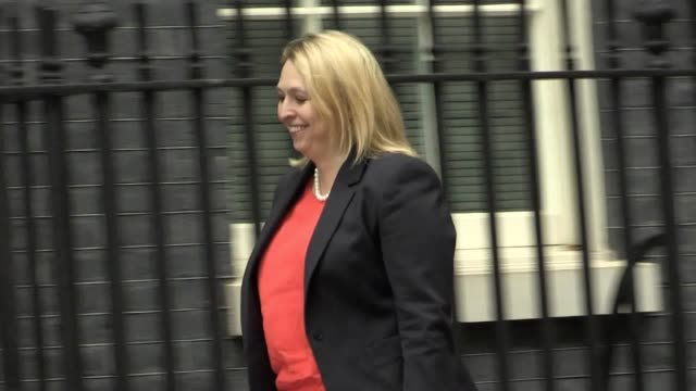 karen bradley and patrick mcloughlin arrive at downing street for a cabinet meeting with prime minister theresa may - patrick mcloughlin stock videos and b-roll footage
