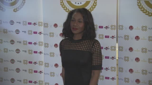karen bryson at national film awards at porchester hall on march 30, 2016 in london, england. - ポーチェスター点の映像素材/bロール
