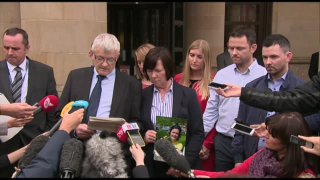 man pleads guilty in court day john buckley press conference with wife beside outside court sot our hearts are broken at the thoughts of karen's... - final chance stock videos & royalty-free footage