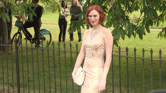 Karen Elson arriving for the summer party at The Serpentine Gallery on June 26 2013 in London England