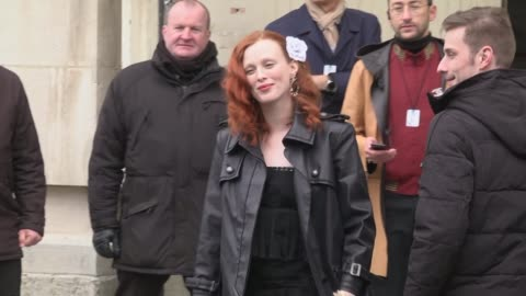 karen elson attends the chanel show as part of the paris fashion week womenswear fall/winter 2019/2020 on march 5, 2019 in paris, france. - celebrity sightings stock videos & royalty-free footage