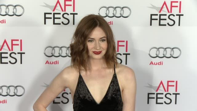 """karen gillan at """"the big short"""" world premiere closing night gala screening - afi fest 2015 at tcl chinese theatre on november 12, 2015 in hollywood,... - tcl chinese theatre stock videos & royalty-free footage"""