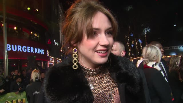 karen gillan on dance fighting and who is the strongest actor at vue west end on december 07 2017 in london england - comedian stock videos & royalty-free footage