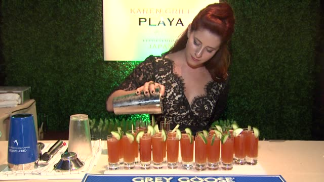 karen grill on what she prepared for the evening at a taste of the world presented by breeders' cup grey goose vodka on 11/2/2012 in pasadena ca - grey goose vodka stock videos & royalty-free footage
