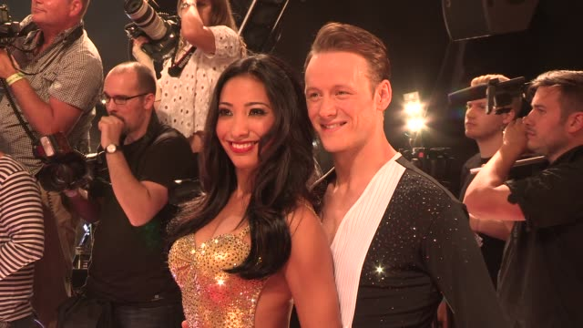 karen hauer at strictly come dancing at elstree studios on september 03 2013 in borehamwood england - ハートフォードシャー点の映像素材/bロール