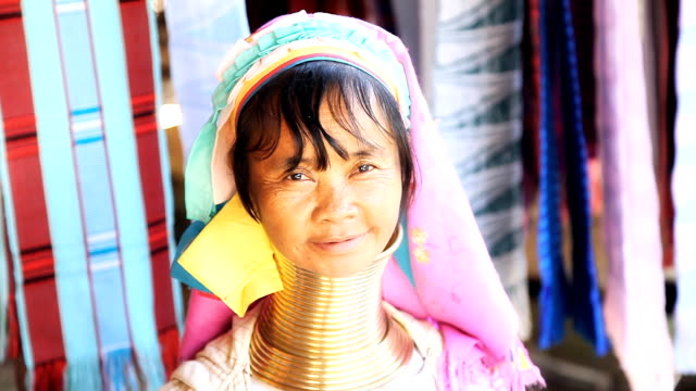 karen long neck hill tribe village - thai ethnicity stock videos & royalty-free footage