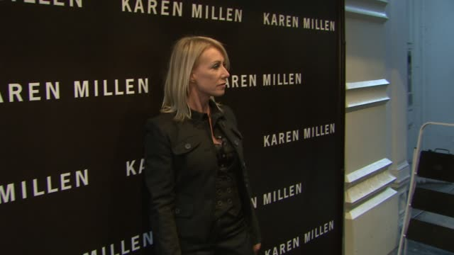 karen millen at the karen millen england flagship boutique launch and fashion show hosted by marylouise parker at karen millen england flagship store... - flagship store stock videos and b-roll footage