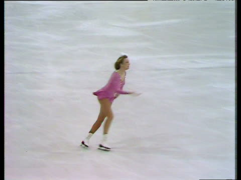 Karen Wood continues routine with series of combination jumps British Figure Skating Championships Richmond Dec 80