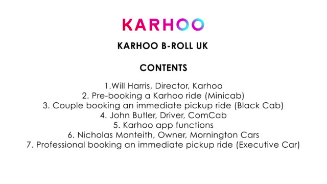 <<karhoo the cab comparison app>> on may 9 2016 in london england - taxi stock videos & royalty-free footage