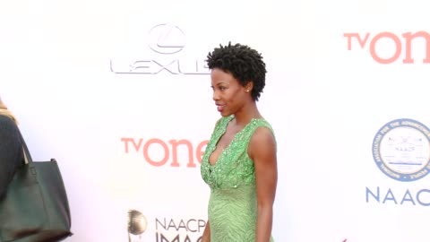 karimah westbrook at the 46th annual naacp image awards - arrivals at pasadena civic auditorium on february 06, 2015 in pasadena, california. - pasadena civic auditorium stock videos & royalty-free footage