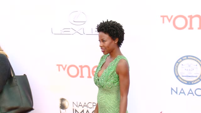 stockvideo's en b-roll-footage met karimah westbrook at the 46th annual naacp image awards - arrivals at pasadena civic auditorium on february 06, 2015 in pasadena, california. - pasadena civic auditorium