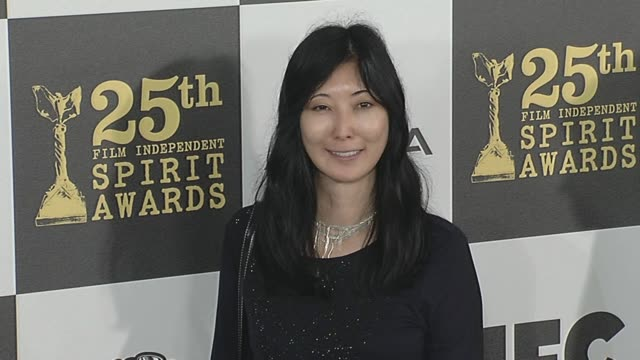 karin chien at the 2010 film independent's spirit awards - arrivals at los angeles ca. - independent feature project stock videos & royalty-free footage