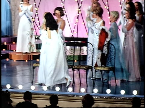karin kascher being crowned as miss california1970 san francisco california usa - beauty contest stock videos & royalty-free footage