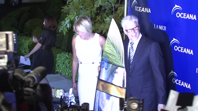 karina petroni and ted danson at the oceana's annual partners award gala honoring former president bill cli at los angeles ca - oceana stock videos & royalty-free footage