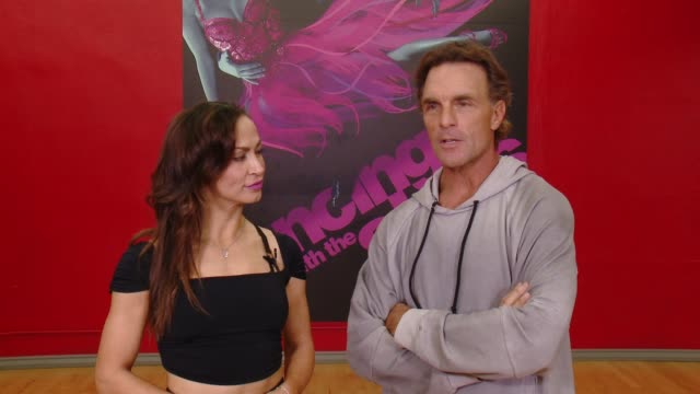 interview karina smirnoff and doug flutie talk about their low scores and what they plan to do to perfect their paso for next week doug also talked... - karina smirnoff stock videos & royalty-free footage