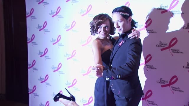 karina smirnoff and johnny weir at the 2010 breast cancer research foundation's hot pink party - arrivals at new york ny. - hot pink stock videos & royalty-free footage