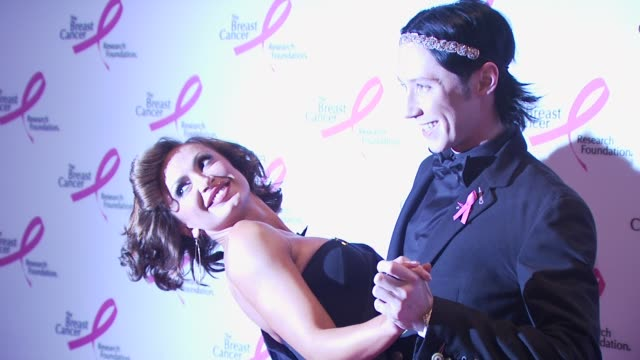 karina smirnoff and johnny weir at the 2010 breast cancer research foundation's hot pink party arrivals at new york ny - hot pink stock videos and b-roll footage