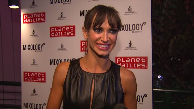 karina smirnoff at joey fatone and kym johnson host after party for premiere of dancing with the stars at mixology 101 on 9/24/12 in los angeles ca - joey fatone stock videos & royalty-free footage
