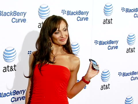 karina smirnoff at the blackberry curve from at&t u.s. launch party at beverly hills california. - curve stock videos & royalty-free footage