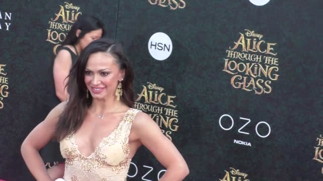karina smirnoff at the premiere of disney's alice through the looking glass at el capitan theatre in hollywood at celebrity sightings in los angeles... - el capitan kino stock-videos und b-roll-filmmaterial